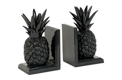 Picture of Black Pineapple Bookends