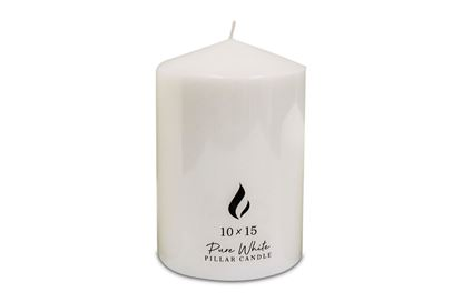 Picture of Pillar Candle 10x15cm white