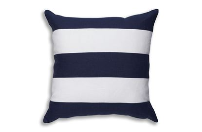 Picture of Stripe Navy Linen 45 x 45