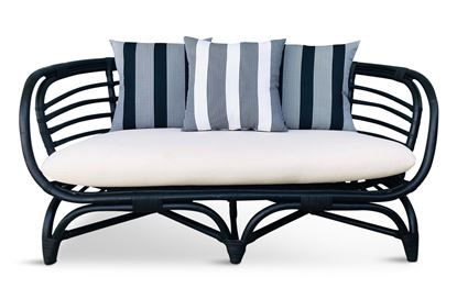 Picture of Bermuda 2.5 Seat Black Frame Black Stripe Edition