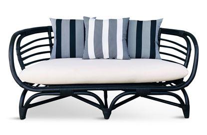 Picture of Bermuda 2.5 Seat Black Frame Black Stripe Edition