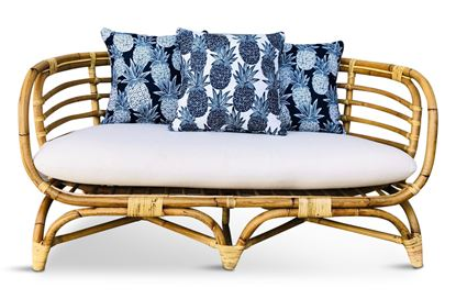 Picture of Bermuda 2.5 Seat Natural Frame Navy Pineapple Edition