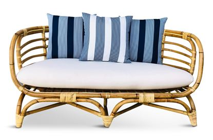 Picture of Bermuda 2.5 Seat Natural Frame Navy Stripe Edition