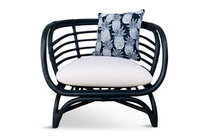 Picture of Bermuda Single Black Frame Seat Black Pineapple Edition