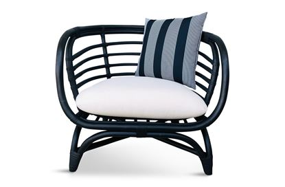 Picture of Bermuda Single Black Frame Seat Black Stripes Edition