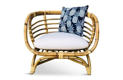 Picture of Bermuda Single Natural Frame Seat Navy Pineapple Edition