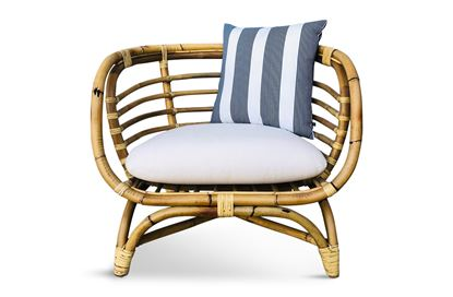 Picture of Bermuda Single Natural Frame Seat Navy Stripe Edition