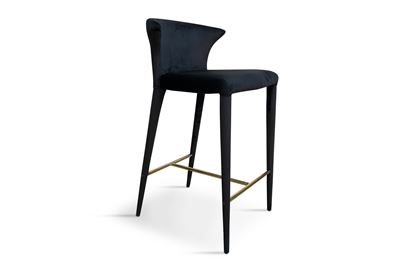 Picture of Bardot Barstool Midnight Gold Footrest