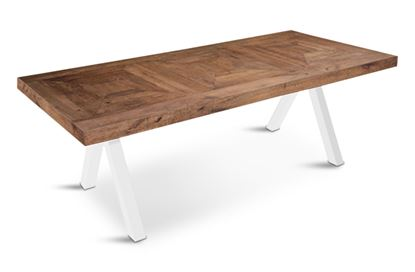 Picture of Sienna 2200 Dining Table  White Pitched Base