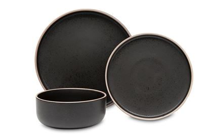 Picture of Hana Dinner Set Black 12pc