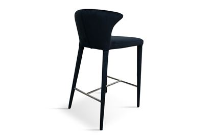 Picture of Bardot Barstool Midnight Silver Footrest
