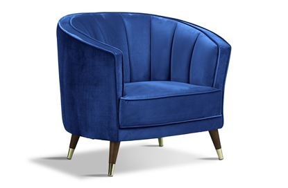 Picture of Georgie Royal Chair Timber W/Gold Sock