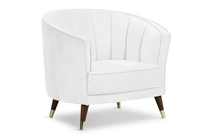 Picture of Georgie Ivory Chair Timber W/Gold Sock