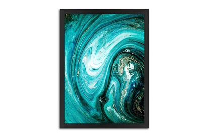 Picture of Teal Abstract 150 x 110 B/F