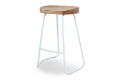 Picture of Lexus Barstool 65cm White Frame With Natural Seat