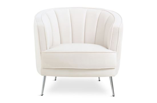 Picture of Georgie Ivory Chair Silver