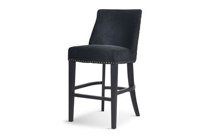 Picture of Bentley Black Barstool Antique Gold