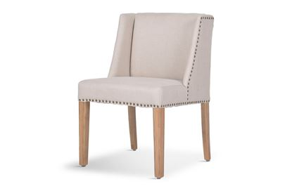 Picture of Eastport Coast Dining Chair Natural/Brass