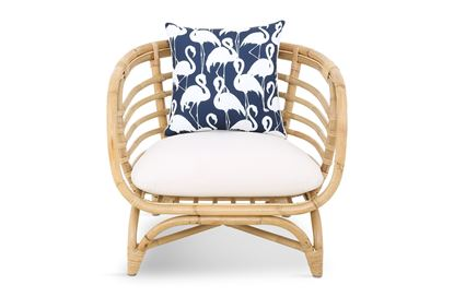 Picture of Bermuda Single Natural frame Navy Flamingo Edition
