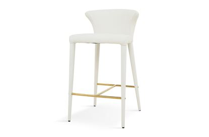 Picture of Bardot Barstool Luxe White Gold Footrest
