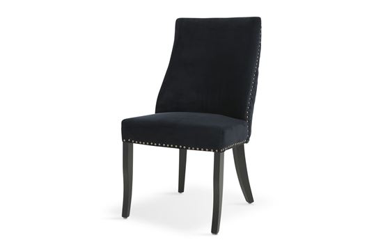 Picture of Bentley Black Dining Chair Antique Gold