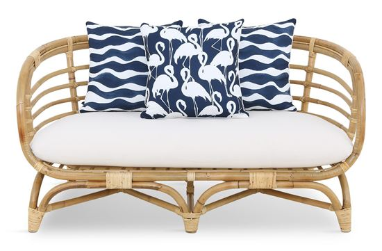 Picture of Bermuda 2.5 Seat Natural Frame Navy Flamingo Edition