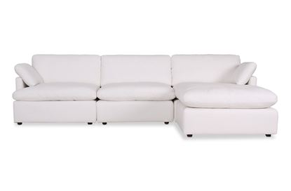 Picture of Cosy Snow Leather Sofa - Package Four