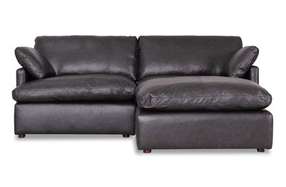 Picture of Cosy Midnight Leather Sofa - Package Eight