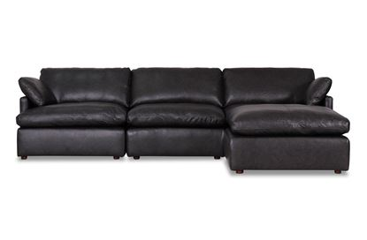 Picture of Cosy Midnight Leather Sofa - Package Four