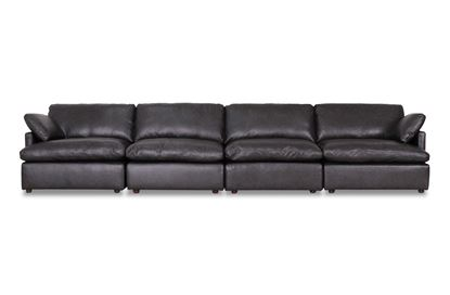Picture of Cosy Midnight Leather Sofa - Package Three