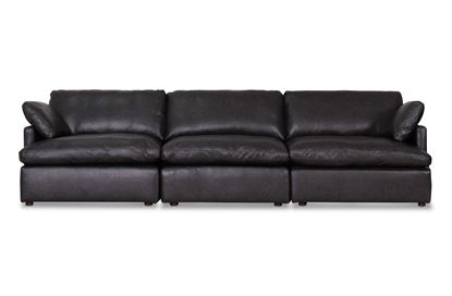 Picture of Cosy Midnight Leather Sofa - Package Two