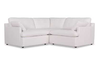 Picture of Cosy Snow Leather Sofa - Package Five
