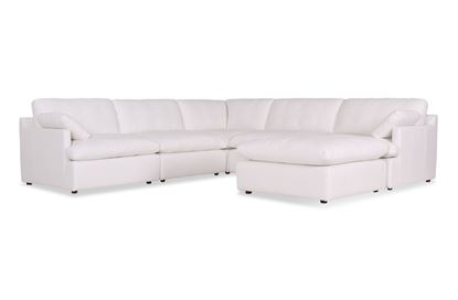 Picture of Cosy Snow Leather Sofa - Package Seven