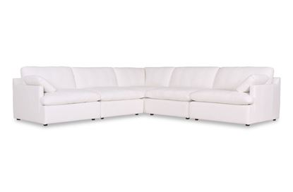 Picture of Cosy Snow Leather Sofa - Package Six