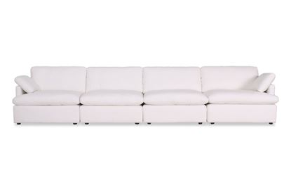 Picture of Cosy Snow Leather Sofa - Package Three