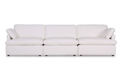Picture of Cosy Snow Leather Sofa - Package Two
