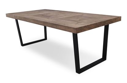 Picture of Sienna 2200 Dining Table Black U Base