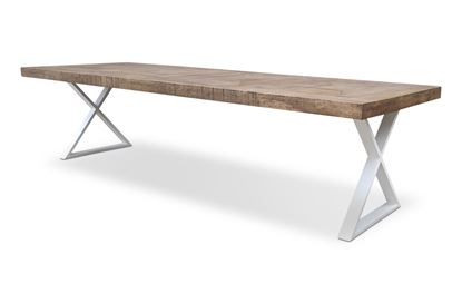 Picture of Sienna 3000 Dining Table White X Base