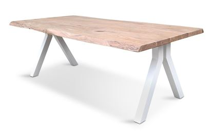 Picture of Bondi 2200 Dining Table White Pitched Frame