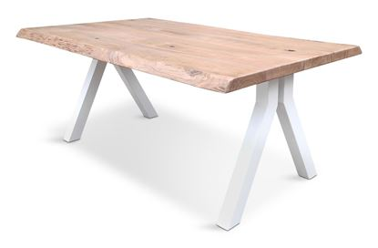 Picture of Bondi 1800 Dining Table White Pitched Frame