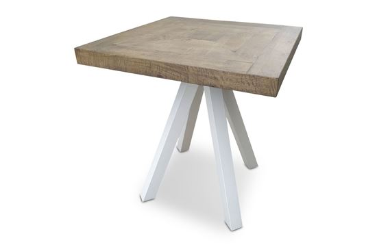 Picture of Sienna Square Bar Table White Frame