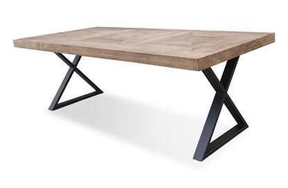 Picture of Sienna 2200 Dining Table Black X Base