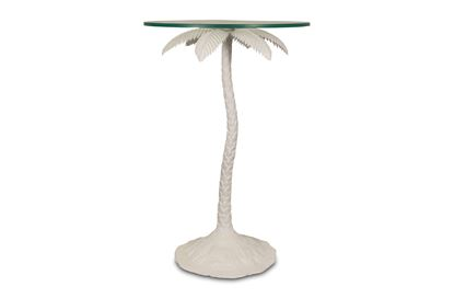 Picture of White Palm Side Table