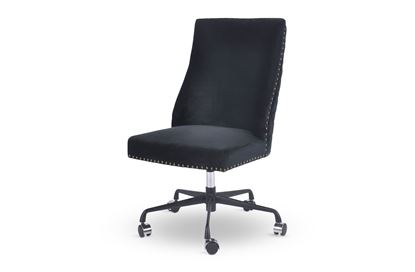 Picture of Bentley Black Office Chair Antique Gold