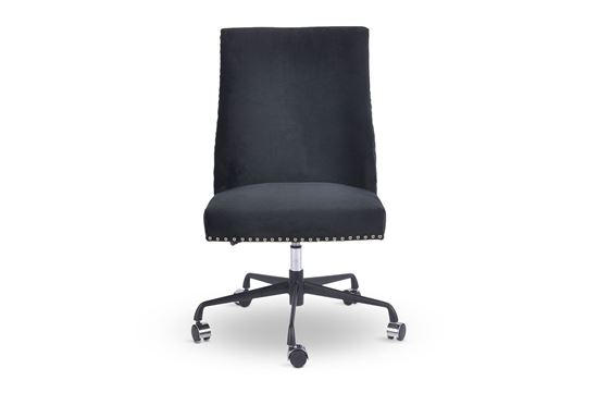Picture of Bentley Black Office Chair Silver
