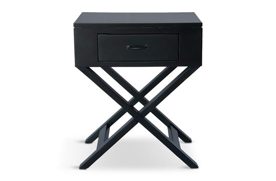 Picture of New York One Drawer Side Table W/ Black Handle