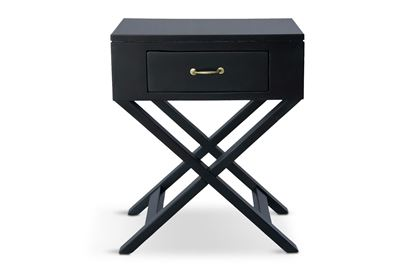 Picture of New York One Drawer Side Table W/ Gold Handle