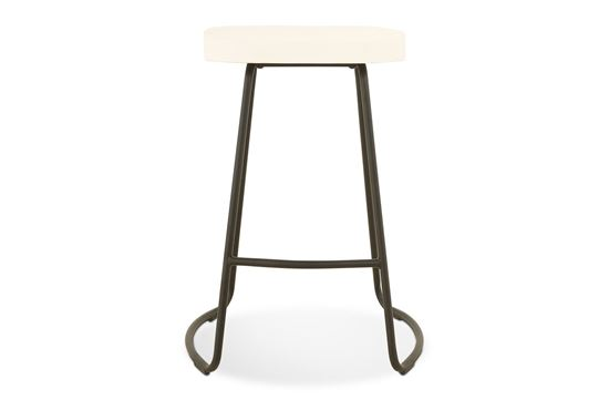 Picture of Lexus Barstool 65cm Black Frame With White Seat