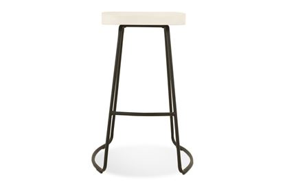 Picture of Lexus Barstool 75cm Black Frame With White Seat