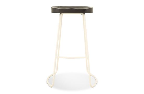 Picture of Lexus Barstool 75cm White Frame With Midnight Seat